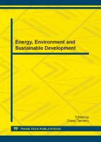 Cover image for Energy, environment and sustainable development selected, peer reviewed papers from the 2012 Asian Pacific Conference on Energy, Environment and Sustainable Development (APEESD 2012), November 12-13, Kuala Lumpur, Malaysia