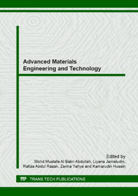 Cover image for Advanced materials engineering and technology : selected, peer reviewed papers from the 2012 international conference on advanced materials engineering and technology (ICAMET 2012), November 28-30, 2012, Penang, Malaysia
