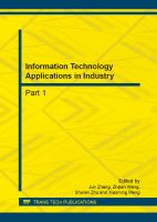 Cover image for Information technology applications in industry : selected peer reviewed papers from the 2012 International Conference on Information Technology and Management Innovation (ICITMI2012), November 10-11, 2012, Guangzho, China