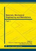 Cover image for Materials, mechanical engineering and manufacture : selected, peer-reviewed papers from the Second International Conference on Applied Mechanics, Materials and Manufacturing (ICAMMM 2012), November 17-18, 2012, Changsha, China