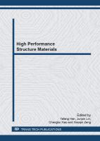 Cover image for High performance structure materials : selected, peer reviewed papers from the Chinese Materials Congress 2012 (CMC 2012), July 13-18, 2012, Taiyuan, China