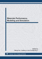 Cover image for Materials performance, modeling and simulation : selected peer reviewed papers from the Chinese Materials Congress 2012 (CMC 2012), July 13-18, 2012, Taiyuan, China