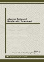 Cover image for Advanced design and manufacturing technology II