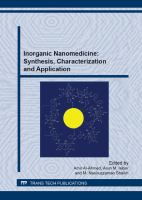 Cover image for Inorganic nanomedicine : synthesis, characterization and application