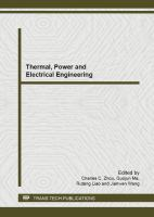 Cover image for Thermal, power and electrical engineering : selected, peer reviewed papers from the 2013 2nd International Conference on Energy and Environmental Protection (ICEEP 2013), April 19-21, 2013, Guilin, China