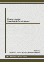 Cover image for Resources and sustainable development : selected peer reviewed papers from the 2013 2nd international conference on energy and evironmental protection (ICEEP 2013), April 19-21, 2013, Guilin, China