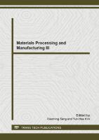 Cover image for Materials processing and manufacturing III : selected, peer reviewed papers from the 3rd International Conference on Advanced Engineering Materials and Technology (AEMT 2013), May 11-12, 2013, Zhangjiajie, China