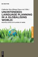 Cover image for Un(intended) language planning in a globalising world : mutliple levels of players at work
