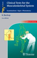 Cover image for Clinical tests for the musculoskeletal system : examinations - signs - phenomena