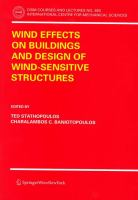 Cover image for Wind effects on buildings and design of wind-sensitive structures