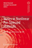 Cover image for Waves in nonlinear pre-stressed materials