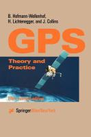 Cover image for Global positioning system : theory and practice
