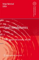 Cover image for Sport aerodynamics