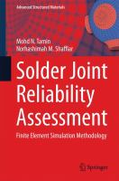 Cover image for Solder joint reliability assessment