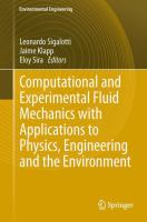 Cover image for Computational and experimental fluid mechanics with applications to physics, engineering and the environment