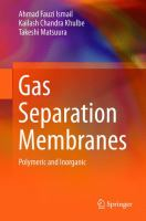 Cover image for Gas separation membranes : polymeric and inorganic