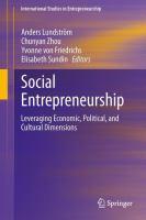 Cover image for Social Entrepreneurship : leveraging economic, political, and cultural dimensions