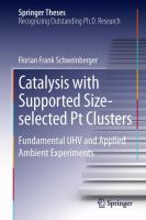 Cover image for Catalysis with supported size-selected Pt clusters : fundamental UHV and applied ambient experiments