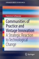 Cover image for Communities of practice and vintage innovation : a strategic reaction to technological change