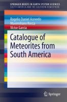 Cover image for Catalogue of meteorites from South America