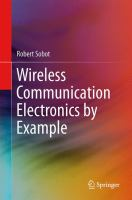Cover image for Wireless communication electronics by example