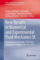 Cover image for New results in numerical and experimental fluid mechanics IX : contributions to the 18th STAB/DGLR symposium, Stuttgart, Germany, 2012