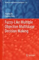 Cover image for Fuzzy-like multiple objective multistage decision making