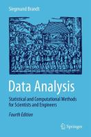 Cover image for Data analysis : statistical and computational methods for scientists and engineers