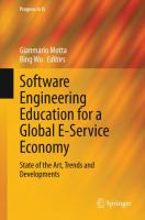 Cover image for Software engineering education for a global e-service economy