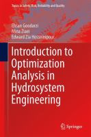 Cover image for Introduction to optimization analysis in hydrosystem engineering