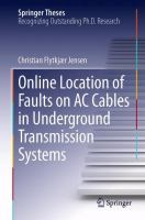 Cover image for Online location of faults on AC cables in underground transmission systems