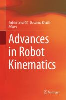 Cover image for Advances in robot kinematics