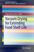 Cover image for Vacuum drying for extending food shelf-life