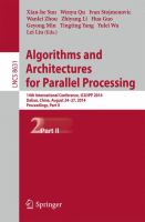 Cover image for Algorithms and architectures for parallel processing : 14th International Conference, ICA3PP 2014 Dalian, China, August 24-27, 2014 proceedings, part II