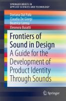 Cover image for Frontiers of Sound in Design : A Guide for the Development of Product Identity Through Sounds,