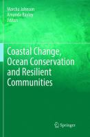 Cover image for Coastal Change, ocean Conservation and Resilient Communities