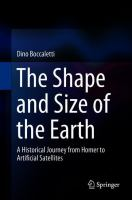 Cover image for The Shape and Size of the Earth: A Historical Journey from Homer to Artificial Satellites
