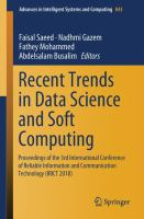 Cover image for Proceedings of the 3rd International Conference of Reliable Information and Communication Technology (IRICT 2018) : Recent Trends in Data Science and Soft Computing, Hotel Bangi-Putrajaya, Malaysia, on July 23-24, 2018