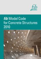 Cover image for Fib model code for concrete structures 2010
