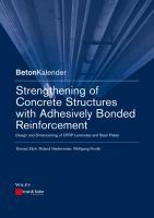 Cover image for Strengthening of concrete structures with adhesive bonded reinforcement : design and dimensioning of CFRP laminates and steel plates