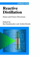 Cover image for Reactive distillation : status and future directions