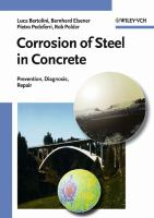 Cover image for Corrosion of steel in concrete : prevention, diagnosis, repair
