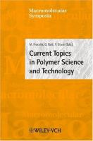 Cover image for Current topics in polymer science and technology