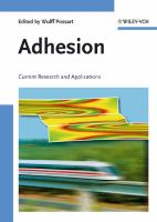 Cover image for Adhesion : current research and applications