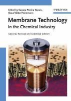 Cover image for Membrane technology in the chemical industry