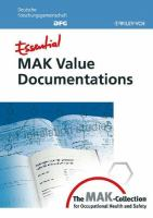 Cover image for Essential MAK value documentations : from the MAK-collection for occupational health and safety