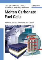 Cover image for Molten carbonate fuel cells : modeling, analysis, simulation, and control