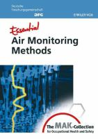 Cover image for Essential air monitoring methods from the MAK-Collection for occupational health and safety
