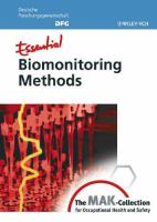 Cover image for Essential biomonitoring methods : from the MAK-collection for occupational health and safety