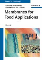 Cover image for Membranes for food applications